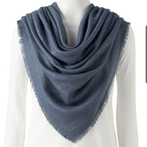 LC Lauren Conrad blue soft touch square scarf